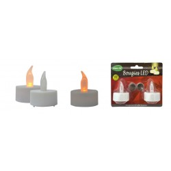Bougie LED effet flamme (lot de 2)