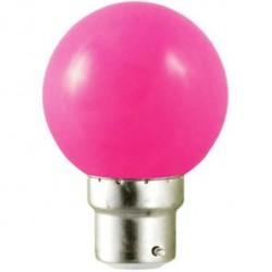 Ampoule LED B22 1W (bulb) Rose