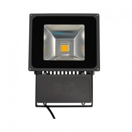 Projecteur LED COB 80W blanc chaud