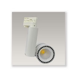Spot LED COB sur rail 40W blanc chaud