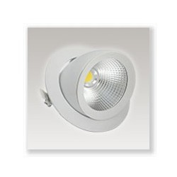 Spot LED COB escargot 10W blanc chaud orientable