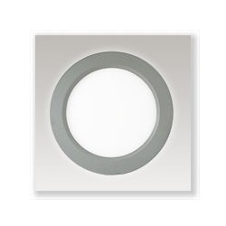 Plafonnier LED alu 18W (235mm) blanc chaud