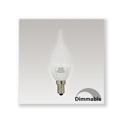 Ampoule LED E14 6W dimmable (coup de vent) blanc chaud